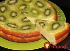 Cottage cheese casserole with kiwi / Global Fashion Kiwi Recipes, Cheese Recipes, Cooking Recipes, Kiwi Dessert, Cooking Forever, Russian Recipes, Cottage Cheese, Food Photo, Casserole