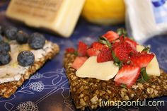Raw Cheese & Strawberries by Livin' Spoonful, via Flickr. Get this easy and delicious recipe on our blog...