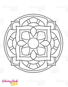 Simple and easy-to-color mandala patterns for kids. The perfect coloring book to start a coloring adventure for kids. Easy Coloring Pages, Mandala Coloring Pages, Coloring For Kids, Coloring Books, Mandala Design, Mandala Pattern, Mandala Simple, Mandalas For Kids, Adventure
