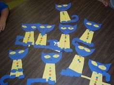 Hooray for Kindergarten: Pete the Cat and His Four Groovy Buttons pattern