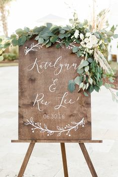 Wood wedding decorations - Floral Wedding Welcome Sign Custom Wedding Decor Display Date & Couple Name, Personalized Welcome Wedding Sign, Weathered Oak Stain Wood Sign, Wedding & Reception Decorations – Wood wedding decorations Diy Wedding Decorations, Wedding Themes, Wedding Centerpieces, Wedding Colors, Wedding Bouquets, Wedding Ideas, Wedding Hacks, Wedding Designs, Birdcage Centerpieces