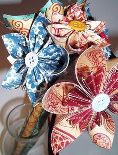 The Craft Life: Amazing Creations by Dana Parlevliet - Graphic Folded Paper Flowers, Graphic 45, Hot Chocolate, Fun Stuff, Embellishments, Christmas Decorations, Craft Ideas, Tags, Amazing