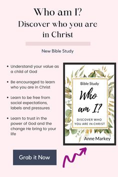 Join Anne Markey on this 7-session journey to discover, through bible study, who we are in Christ and what we were made to do.Ditch the chains of expectations and base your identity in Christ and what matters most instead of what others think.Stop striving to be what the world accepts and stand firm in who God has called you.Click for more details Images Of Christ, New Bible, Identity In Christ, Your Values, Learning To Trust, What The World, Scripture Verses, Christian Women, Understanding Yourself