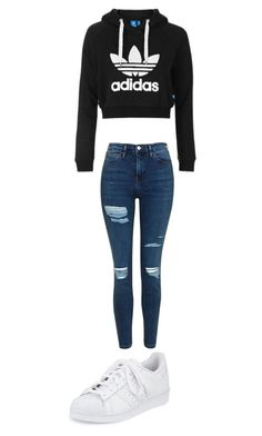 """Outfit xx"" by eviewilkinson2002 on Polyvore featuring Topshop and adidas"