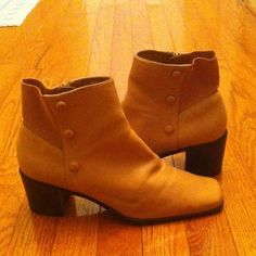 Nicole by Nicole Miller Shoes - Nicole Tan Leather Ankle Boot Sz 11