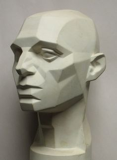 art - sculptures - philip moerman - www.moermansculptures.be  Planes of the face 3/4 view