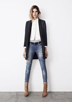 Jeans + black & white