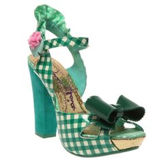 Irregular Choice Shoes Love Bug Green Heels