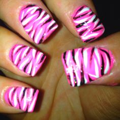 My crazy nails I did :)
