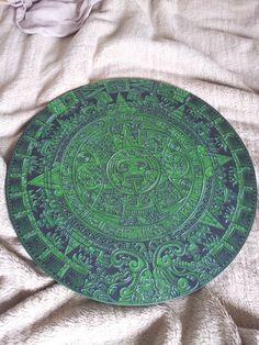 Mayan calendar in jade