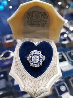 Sapphire Rings, Sapphire Stone, Edwardian Ring, Cushion Cut Diamonds, Van Cleef Arpels, Vintage Jewellery, High Jewelry, Diamond Are A Girls Best Friend, Diamond Cuts