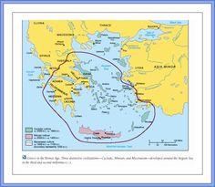 Bronze Age Greece - sphere of influence Mycenae-Knossos