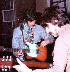 Beatles guitars   1964-Fender-Esquire-paul-mccartney-used on Sgt. Pepper