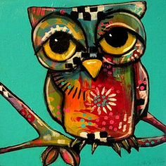 owl by Suzan Buckner. I love all the different patterns and colors!
