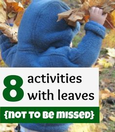 8 not to be missed easy, inexpensive and creative ideas for kids activities with leaves! - Click image to find more Kids Pinterest pins