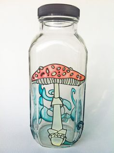 Eco Friendly WaterBottle Stash Jar Amanita muscaria by Hydrosphere