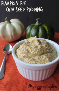 pumpkin pie chia seed pudding - modify to make candida friendly
