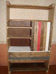 DSC03054  1 Bibliothèque en palette / Pallets Bookshelf in pallet furniture  with Recycled pallet Furniture Bookshelf