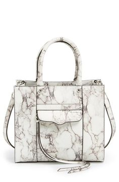 Free shipping and returns on Rebecca Minkoff 'Avery' Crossbody Bag at Nordstrom.com. A chic, structured satchel with a dramatic marbled finish features long, trailing laces for a bit of flirty movement with every step. The chain-and-leather strap provides convenient crossbody style, while polished silvertone hardware complements the sleek look.