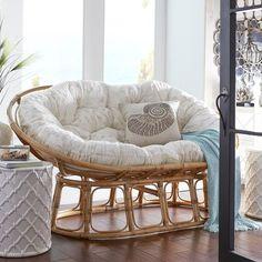 Papasan Double Chair Frame - Natural