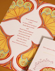 Costello and Worthington custom invitation design Letterpress Wedding Invitations
