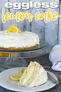 This eggless lemon cake is full of lemon flavor and perfect for anyone looking for a citrus treat.