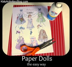 Paper Dolls the Easy Way, definitely going to try this!!!!