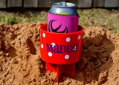 Personalized Beach Spike Beverage Cup Holder