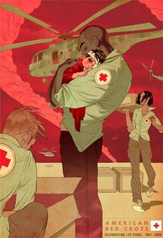 Safe - Tomer Hanuka art for the American Red Cross, 125th anniversary celebration.