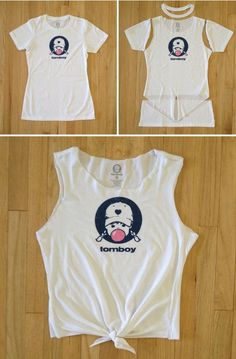 This tutorial is easy, we promise! All you need for thissuper cute tank top is a pair of scissors...