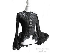 Blouse Lausanne black lace victorian mourning by SomniaRomantica, $159.00