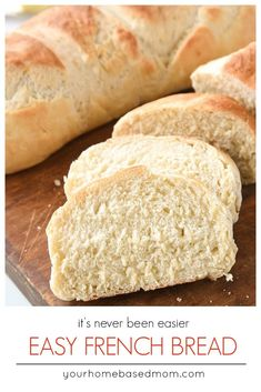 Enjoy the delicious taste of homemade french bread with this quick and easy french bread recipe.