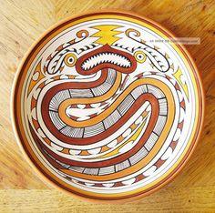 Vintage 1989 Large Senapi Chitre Of Panama Studio Art Pottery Wall Plate/charger Latin American photo