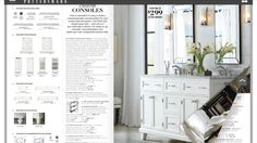 Double mirrors for his and hers sinks from pottery barn