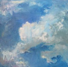 "Saatchi Art Artist Catherine W Minnery; Painting, ""Clouds #5"" #art"