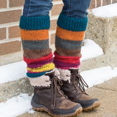Hand dyed and hand knit from 100% wool, these leg warmers will keep your calves cozy when the weather outside is frightful. One size. 16 in. l x 4 1/2 in. w Knitting Socks, Hand Knitting, Hunter Boots Outfit, Knit Leg Warmers, Leg Warmers Outfit, Look Fashion, Cool Outfits, Creations, Textiles