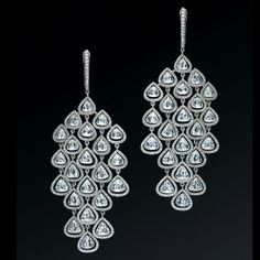 Why Not Sky. Diamond chandelier earrings