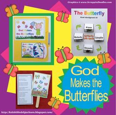 Bible Fun For Kids: God Makes the Butterflies for Preschool #finishedfriday