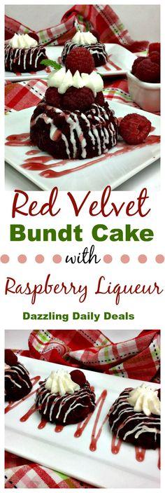 red velvet bundt cake recipe with raspberry liqueur