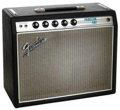 1968 Fender Princeton Black Guitar Amplifier, Serial # Lot 85185