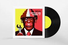 Vinyl Disc Cover Art Mockup