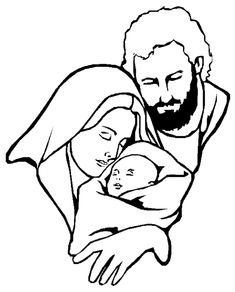 I have download Mary And Joseph Were Very Happy With Jesus Coloring Page