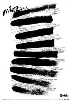An example of a rhythmical interrupted sequence as seen in both the brush strokes and the negative space in between the strokes. Beste plakate - Google-Suche.