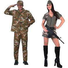 Pareja Disfraces de Militares #parejas #disfraces #carnaval