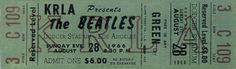 Beatles Concert Tickets - Los Angeles - August 28, 1966 - Dodger Stadium - I was there! 2nd row seats. Can you believe it cost only $6.00?