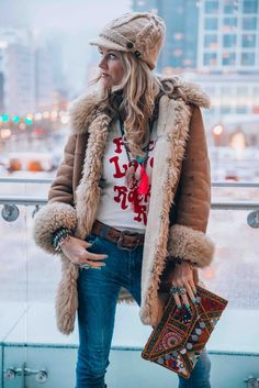 Boho chic winter style - The latest in Bohemian Fashion! These literally go viral!