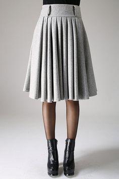 años 50 falda falda de la longitud de la rodilla falda por xiaolizi