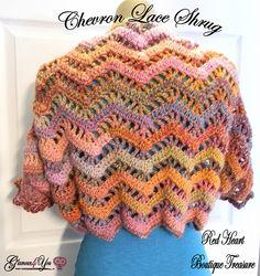 Chevron Lace Shrug By Glamour4You - Free Crochet Pattern - (ravelry)