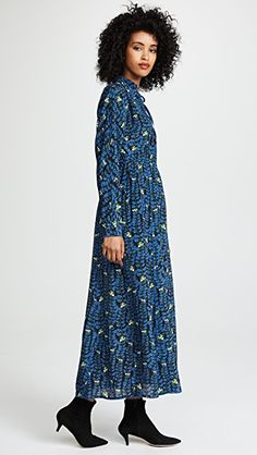 Sonia Rykiel Floral Mock Neck Dress
