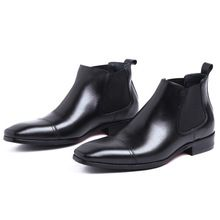 2016 New Elegant Genuine Leather Formal Man Ankle Boots Pointed Toe High-Top Men's Dress Martin Heels Male Chelsea Shoes GLM1699     Tag a friend who would love this!     FREE Shipping Worldwide     #Style #Fashion #Clothing    Buy one here---> http://www.alifashionmarket.com/products/2016-new-elegant-genuine-leather-formal-man-ankle-boots-pointed-toe-high-top-mens-dress-martin-heels-male-chelsea-shoes-glm1699/